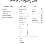 diwali shopping list