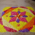 Flower Rangoli Mold: Make Your Own