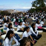 Students Meditate for World Peace