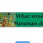 hanuman bumper sticker