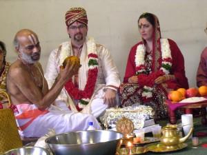 white hindu wedding
