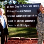 Dr. Carl Evans of IPSC and Chaplain Mike Lembke, Dir. of the Center for World Religions