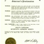 S.C. Interfaith Harmony Month