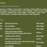 Wild Goose Posts Festival Schedule for Shakori Hills Site (Chatham County, NC)