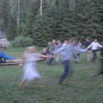 "Pagans dance in ""nonreligious"" Estonia. Photo: BBC."