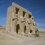 Osirid statues at Luxor.