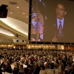 President Obama at the 2012 National Prayer Breakfast.