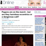 Typical Daily Mail headline about Pagans.