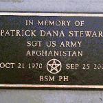 Marker for Sgt. Patrick Stewart.
