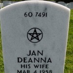 Wiccan Pentacle Headstone at Arlington National Cemetery.