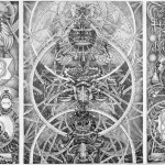 "David Chaim Smith, Blood of Space 2, 2009. Graphite/ink on digital print. 18x22"" NFS."
