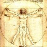 The Vitruvian Man by Leonardo da Vinci.