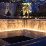 Nightfall at the 9/11 Memorial (Photo: Joe Woolhead)