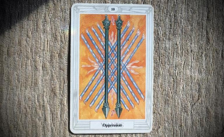 Ten of Wands: Oppression