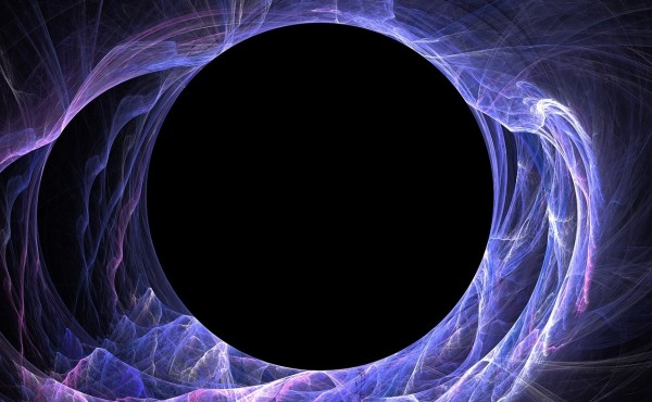 abstract hole ringed in purple energy
