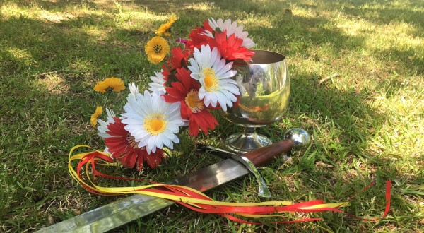 Beltane Wreath with the Sword and Chalice - Photo by Heron Michelle