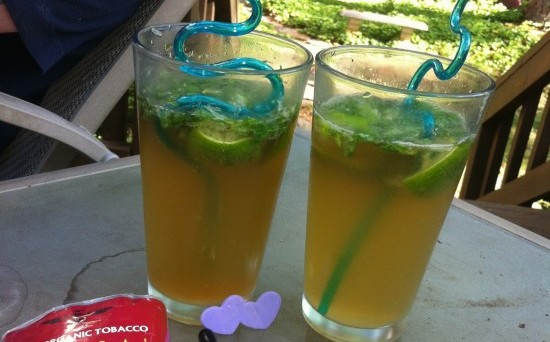 2 classes of Lammas Lovers Lemonade with twisty straws