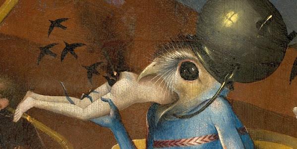 Monstrous Muncher Detail from Bosch's Garden of Earthly Delights