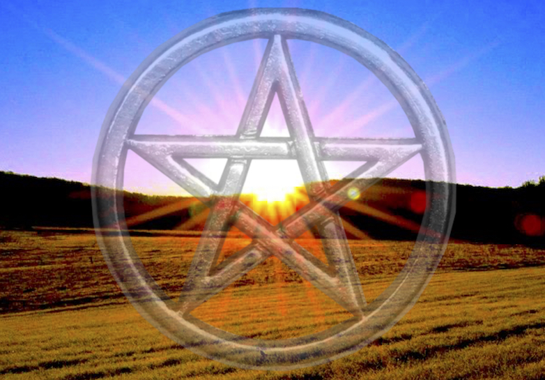 Father Sun, Mother Earth Pentacle Graphic by Heron Michelle