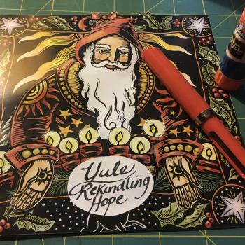 Crafting a Yule Candle from Last Year's Calendar Images