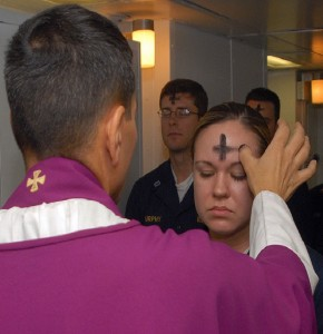 Should you wipe your forehead before going into work on Ash Wednesday?