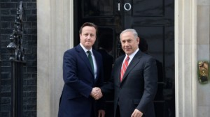 Cameron and Netanyahu outside Number 10 Sept 2015. Photo Credit: Israel Govt Press Office