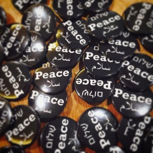 'Peace badges' Credit UJS