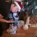 My brother, traditionally, crap wraps his gifts.