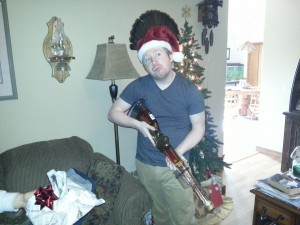 Tim got the family a gun filled with tequilla. A more epic creation has never graced the earth.