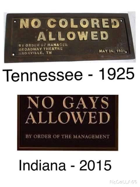 GAY RIGHTS & POLITICS: Indiana hasn't come very far in 90 years.