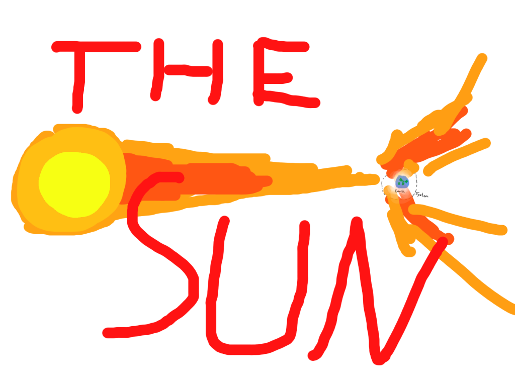 Drew the sun adding energy to the system