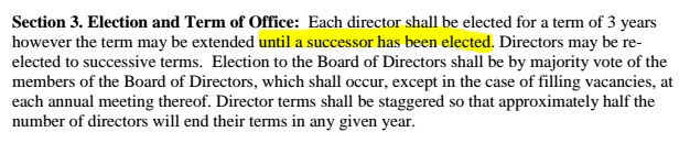 Bylaws succession