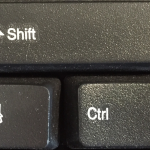 Shift or Control
