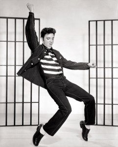 "Elvis in ""Jail House Rock."""