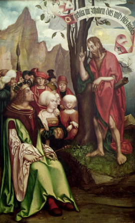 """St. John the Baptist Preaching Before Herod,"" Hans Fries, 1514."