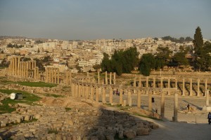 Magnificent ruins in Jerash, Jordan.