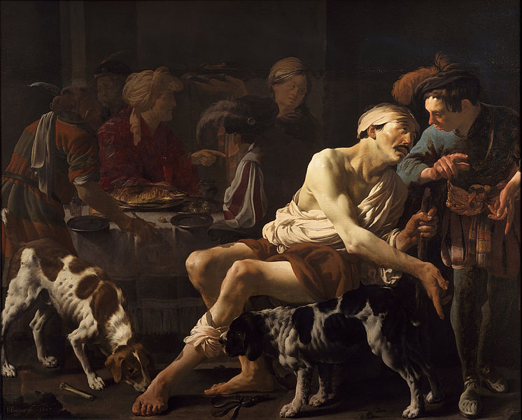 The Rich Man and the Poor Lazarus Hendrick ter Brugghen [Public domain], via Wikimedia Commons