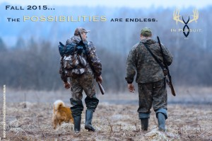 two hunters and dog