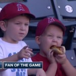 No wrong way to eat meat… just ask this little Angels fan. (Video)